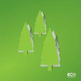Concept vert d'Eco - pin abstrait. Photographie stock