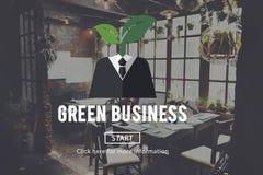 Concept vert d'environnement d'écologie d'affaires illustration stock