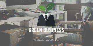 Concept vert d'environnement d'écologie d'affaires illustration libre de droits