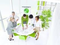 Concept vert de bureau de réunion d'affaires photos libres de droits