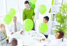 Concept vert de bureau de réunion d'affaires photo libre de droits