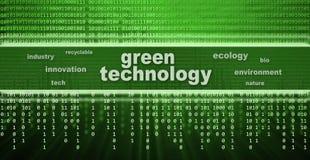 Concept vert de technologie Photographie stock libre de droits