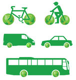 Concept vert de transport Photos libres de droits