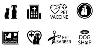 Concept veterinary icons Stock Photo