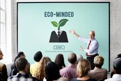 Concept viable environnemental d'énergie à l'esprit Eco Photo libre de droits
