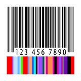 Concept vibrant de code barres d'accent de couleur Images stock