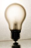 Concept view on electric light bulb.  Stock Image