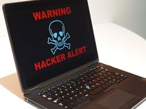Concept vigilant de pirate informatique images libres de droits