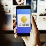 Concept vigilant de point d'exclamation d'attention image libre de droits