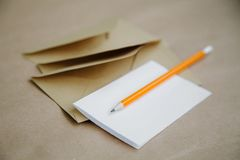Concept of a vintage invitation to a wedding or event, a love letter royalty free stock photo