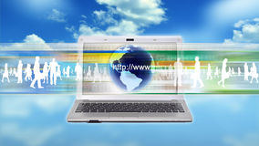 Internet business worker Stock Image