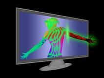 Concept virtual reality stock photos