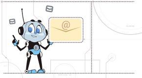 Concept virtuel d'aide de nouveau de message de prise de robot de Chatbot d'avis de signe de soutien broutement de technologie illustration libre de droits