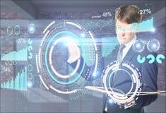 Concept virtuel de technologie d'affaires illustration stock