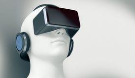 Concept virtuele werkelijkheid Stock Fotografie
