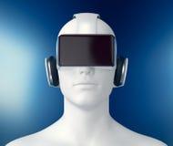 Concept virtuele werkelijkheid Royalty-vrije Stock Afbeeldingen