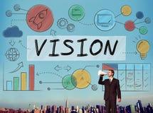 Concept visie van het Bedrijfs de Groei het Collectieve Doel Royalty-vrije Stock Afbeeldingen