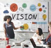 Concept visie van het Bedrijfs de Groei het Collectieve Doel Stock Afbeelding