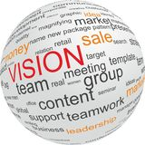 Concept of vision in business Royalty Free Stock Photo