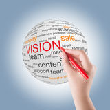 Concept of vision in business Stock Photos