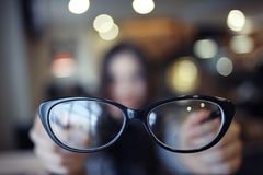 Concept vision glasses Royalty Free Stock Photography
