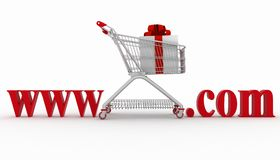 Concept of visiting e-business website Stock Image