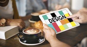 Concept visuel créatif d'illustration de conception graphique photographie stock libre de droits
