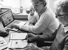 Concept vivant de mode de vie supérieur de couples de retraite Photos libres de droits