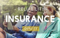 Concept vivant de qualité de fiabilité de la vie d'assurance photos libres de droits