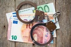 Concept voor Corruptie of Fraude stock foto