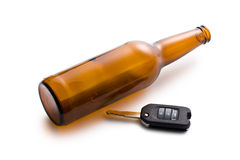 Concept voor dronkenschap bij het rijden stock foto's
