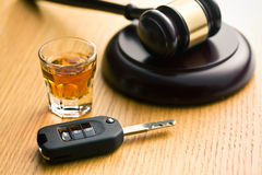 Concept voor dronkenschap bij het rijden Royalty-vrije Stock Fotografie