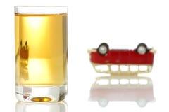 Concept voor het drinken en het drijven Stock Afbeeldingen