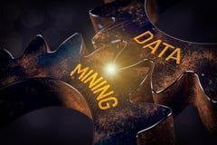 Concept voor het exploiteren van gegevens royalty-vrije stock foto