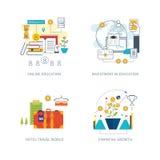 Concept voor investering, strategie planning, financiën, online onderwijs royalty-vrije illustratie