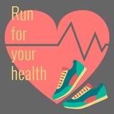 Concept voor jogging Royalty-vrije Stock Afbeeldingen