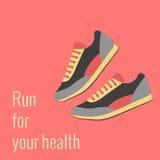 Concept voor jogging Royalty-vrije Stock Afbeelding