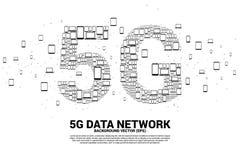 Concept voor mobiel telecommunicatie mondiaal net stock illustratie