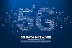 Concept voor mobiel telecommunicatie mondiaal net royalty-vrije illustratie