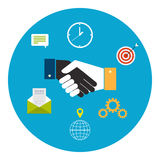 Concept voor samenwerking tussen bedrijven vector illustratie
