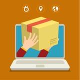 Concept voor snelle levering Stock Afbeeldingen