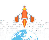 Concept voor startzaken en financiënstrategie De investeringsgroei royalty-vrije illustratie