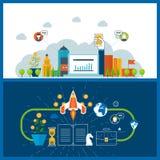 Concept voor startzaken en financiënstrategie De investeringsgroei vector illustratie