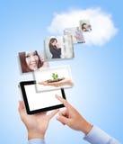 Concept voor zaken en wolk gegevensverwerking royalty-vrije stock foto
