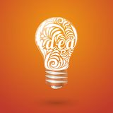 Concept vortex ideas in the form of light bulb. Stock Image