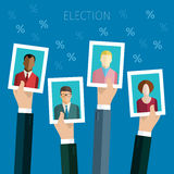 Concept of voting. Stock Images
