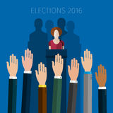 Concept of voting. Stock Photo