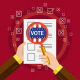 Concept of voting. Royalty Free Stock Photo