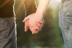 Concept vriendschap en liefde van de mens en vrouw Stock Afbeelding
