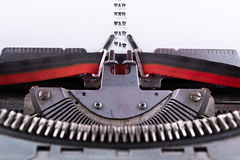 Concept about War written on an old typewriter . Stock Image
